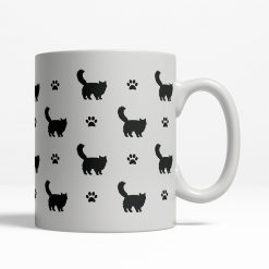 Calico Silhouette Coffee Cup
