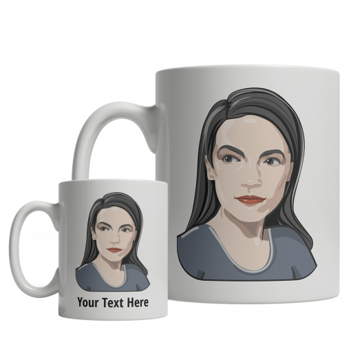 Alexandria Ocasio-Cortez Custom Mug