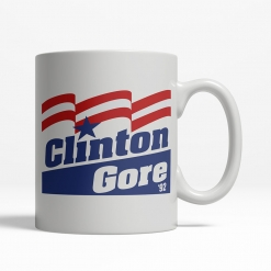Clinton Gore 1992 Coffee Cup