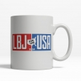 LBJ for the USA 1964 Coffee Cup