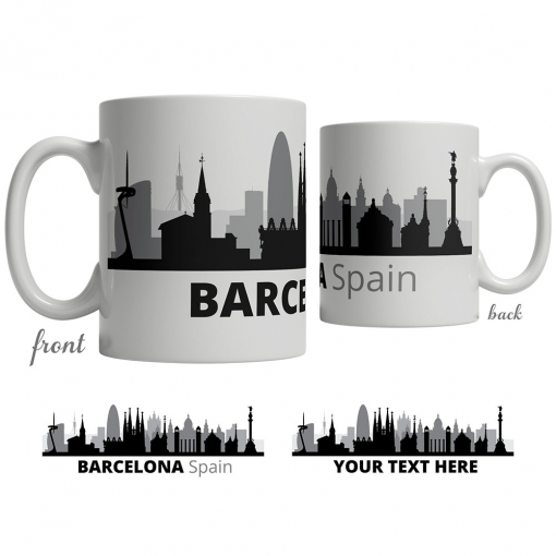 Barcelona Skyline Coffee Mug