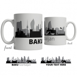 Baku Skyline Coffee Mug