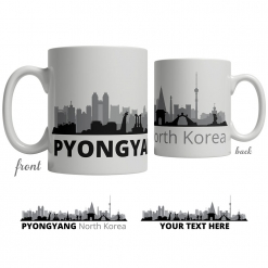 Pyongyang Skyline Coffee Mug