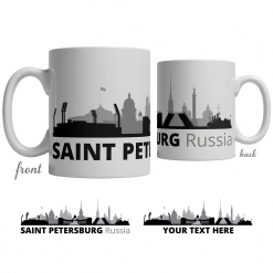 Saint Petersburg Skyline Coffee Mug
