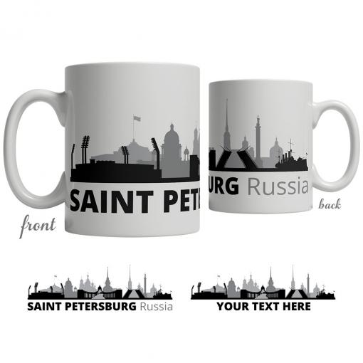 Saint Petersburg Skyline Coffee Mug