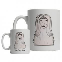 Afghan Hound Cartoon Mug