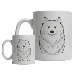 American Eskimo Cartoon Mug