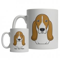 Basset Hound Cartoon Mug