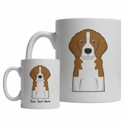 Basset Hound Cartoon Mug