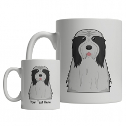 Bearded Collie Cartoon Mug