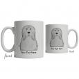 Bearded Collie Cartoon Coffee Cup