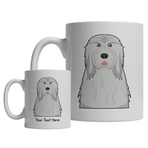 Bearded Collie Cartoon Mug