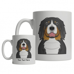 Bernese Mountain Dog Cartoon Mug