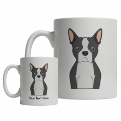 Boston Terrier Cartoon Mug