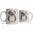 Bulldog Cartoon Coffee Cup