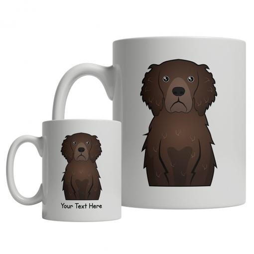 Curly Coated Retriever Cartoon Mug