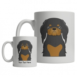 English Toy Spaniel Cartoon Mug