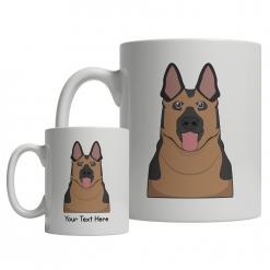 German Shepherd Cartoon Mug