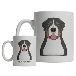 Greater Swiss Mountain Dog Cartoon Mug
