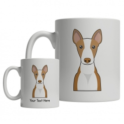 Ibizan Hound Cartoon Mug