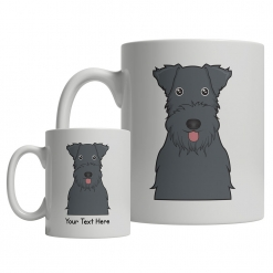 Kerry Blue Terrier Cartoon Mug