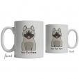 Norwegian Elkhound Cartoon Coffee Cup