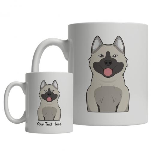 Norwegian Elkhound Cartoon Mug