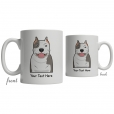Pitbull Cartoon Coffee Cup