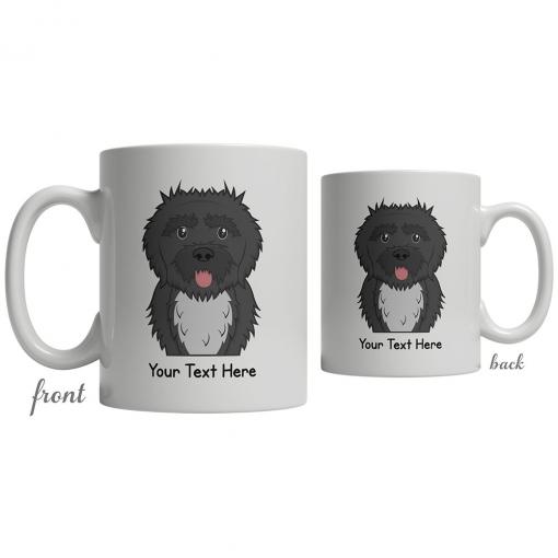 Portuguese Water Dog Cartoon Coffee Cup