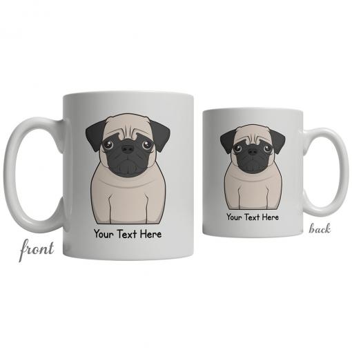Pug Cartoon Coffee Cup