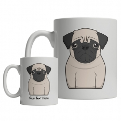 Pug Cartoon Mug