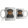 Rottweiler Cartoon Coffee Cup