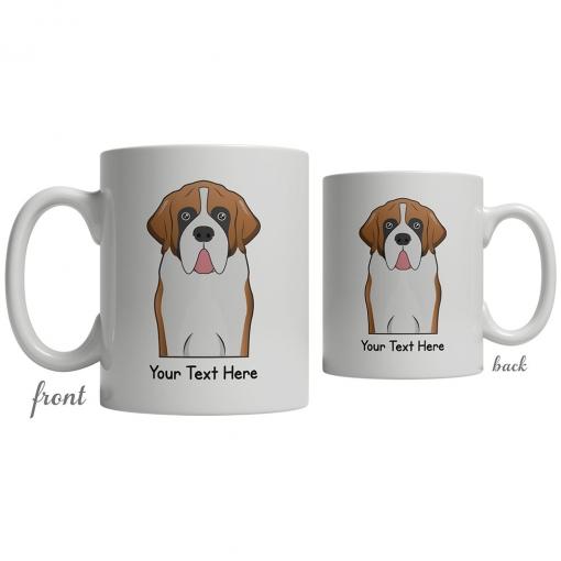 Saint Bernard Cartoon Coffee Cup