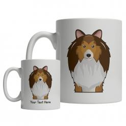 Shetland Sheepdog Cartoon Mug