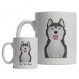 Siberian Husky Cartoon Mug