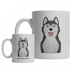 Siberian Husky Cartoon Mug