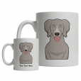 Weimaraner Cartoon Mug