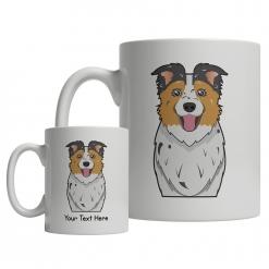 Australian Shepherd Cartoon Mug