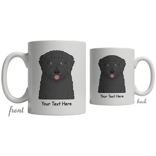 Black Russian Terrier Cartoon Coffee Cup