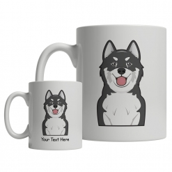 Canadian Eskimo Dog Cartoon Mug