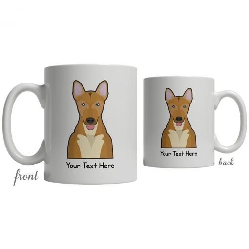 Carolina Dog Cartoon Coffee Cup