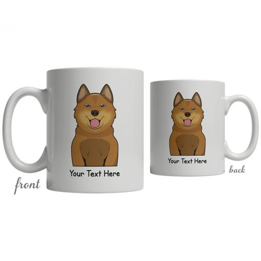 Finnish Spitz Cartoon Coffee Cup
