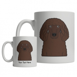 Irish Water Spaniel Cartoon Mug