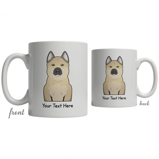 Norwegian Buhund Cartoon Coffee Cup