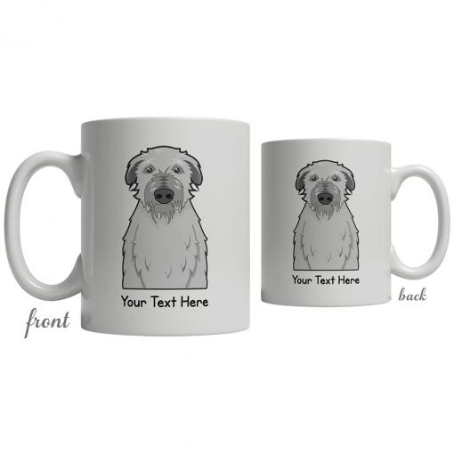 Scottish Deerhound Cartoon Coffee Cup