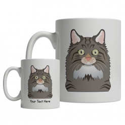 Norwegian Forest Cat Cartoon Mug
