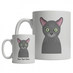 Russian Blue Cartoon Mug