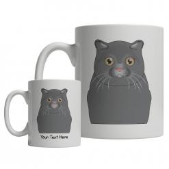 Scottish Fold Cartoon Mug