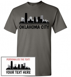 Oklahoma City, OK Skyline T-Shirt