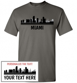 Miami, FL Skyline T-Shirt